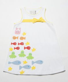 Look at this White & Yellow Fish Swing Dress - Infant, Toddler & Girls on #zulily today!