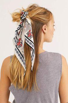 Accessories for braids Beau Bandana Scarf Pony Beau Bandana Scarf Pony Pigtail Hairstyles, Headband Hairstyles, Braided Hairstyles, Braided Mohawk, Gorgeous Hairstyles, Hair Scarf Styles, Curly Hair Styles, Bandana Scarf, Trending Hairstyles