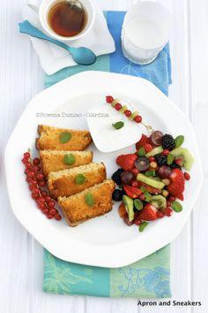 Toasted Spongecake With Vanilla Yogurt and Fruit | Apron and Sneakers