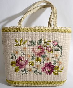 Embroidery Fashion, Embroidery Hoop Art, Cross Stitch Embroidery, Lace Doilies, Tapestry Crochet, Crochet Purses, Handmade Bags, Large Bucket, Needlepoint