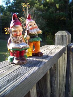 Vintage  Garden Gnome Pair by AlloftheAbove on Etsy, $15.00