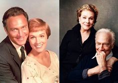 Christopher Plummer & Julie Andrews in 1965 and in 2015 Sound Of Music Movie, I Movie, Movie Stars, I Look To You, Christopher Plummer, Celebrities Then And Now, Julie Andrews, Elisabeth, Old Movies
