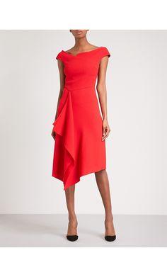 ROLAND MOURET - Barwick fit-and-flare wool-crepe dress | Selfridges.com