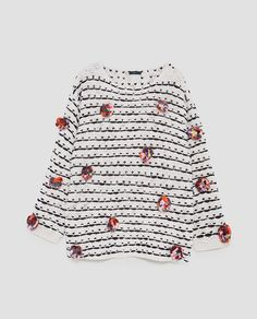 SWEATER WITH COLORED POMPOMS-NEW IN-WOMAN | ZARA United States