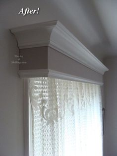 after-before-window-valance-box going to try this for my bed.- after-before-window-valance-box going to try this for my bed room after-before-window-valance-box going to try this for my bed room - Window Valance Box, Window Coverings, Curtain Box, Wooden Valance, Window Valences, Window Boxes, Bay Window, Window Curtains, Decorating Your Home