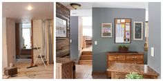 Many people are going for this spectacular theme for their Reclaimed Wood Accent Wall, Wood Wall, Wood Walkway, Lake Resort, Home Remodeling, Walkways, Cabinet, Seal, Tile