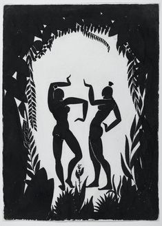 Dancing Figures (1935), illustration by Richard Bruce Nugent. Nugent was an author and artist who played an important role in the Harlem Renaissance in the 1920s. He was a member of the talented group of writers and artists who created the ground-breaking magazine Fire!! in 1926. Illustration via the Richard Bruce Nugent website: http://www.brucenugent.com/Home%20Frameset.htm.