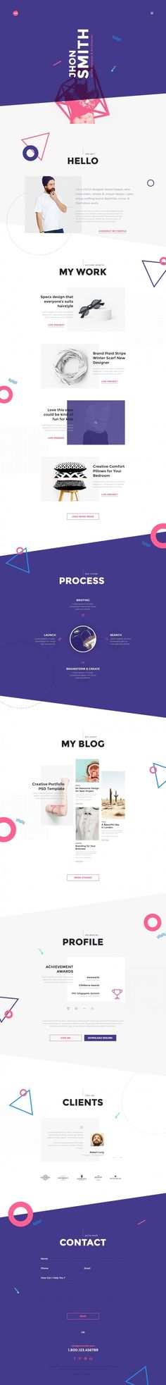 Me – Creative Portfolio & Resume / CV in Web design
