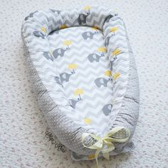 "Babynest ""Yellow elephants"" by Olgakress on Etsy"