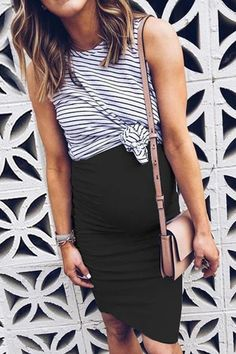USD Maternity Stripes Color Block Fake Two Pieces Dress Maternity Clothes、Maternity Fashion、Maternity Dresses、Maternity Casual Dress Casual Maternity Outfits, Summer Maternity Fashion, Maternity Wear, Casual Dresses, Stylish Maternity Clothes, Maternity Looks, Maternity Clothes Spring, Winter Pregnancy Outfits, Pregnancy Wardrobe