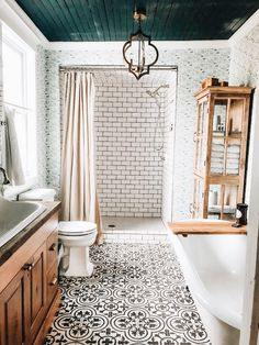 Fox Country Farmhouse - White& Room and Board. the dreamiest bathroom! - Fox Country Farmhouse – White& Room and Board. the dreamiest bathroom! Dream Bathrooms, Beautiful Bathrooms, Small Bathroom, Bathroom Ideas, Bath Ideas, Master Bathrooms, Bathroom Designs, Bathroom Colors, Bathroom Organization