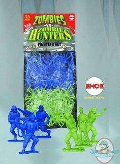 Zombies vs Zombie Hunters Plastic Figure 35 Ct Bag by Emce Toys #toys #actionfigures #minifigures #zombies