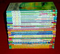 Junie b. jones lot 24 Chapter Books Level M Teachers 2nd Grade Ages 6 7 8 9 Barbara Park, Junie B Jones, Reading Levels, Chapter Books, Book Title, Guided Reading, Learn To Read, Book Series, Childrens Books