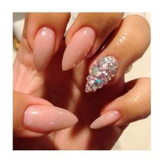Love love love stilettonails nails ❤ liked on Polyvore featuring beauty products, nail care, nail treatments and nails