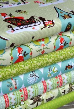 "Sheri Berry for Riley Blake Christmas fabric: ""Alpine Wonderland"""