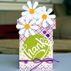 #Daisy #dies #minibag #flowerpot #thanks  #whimsiedoodles #cre8time #ajillianvancedesign carefully crafted cuteness by Melyssa Connolly: Thanks gift cards