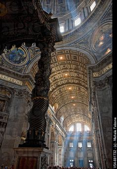 St Peter's Basilica, Rome, Italy. One of the most awe-inspiring places I've ever seen!