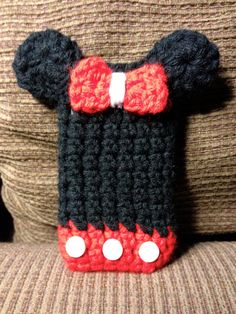 Minnie Mouse Crochet iPhone Cover by emmas36 on Etsy, $8.00