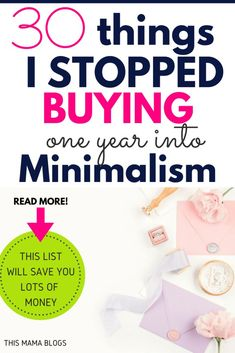 Want to save money? How about simplifying your life? Here are 30 things I've stopped buying since embracing minimalism. Hint: this list will help you save lots of money! No Spend Challenge, Money Saving Challenge, Money Saving Tips, Money Tips, Savings Challenge, Money Hacks, Save Money On Groceries, Ways To Save Money, Groceries Budget