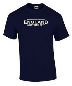 c170d6c8277 100% England Six Nations 2017 Mens Rugby T-Shirt | Shirts | Rugby Union