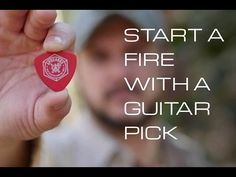 Start an Emergency Fire with a Guitar Pick [VIDEO] | Griffin's Guide to Hunting and Fishing