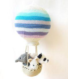 Décoration de chambre denfant ballon air chaud avec crochet