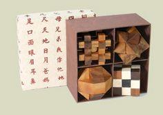 Boite 4 casse-tête #box #cadeau #gift #jeux #bois