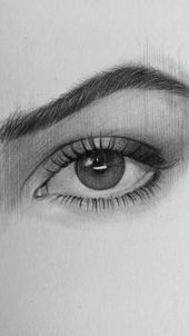 Drawing of an eye by Nadia Coolrista. WIP, time lapse video 30 minutes of drawing in 40 seconds of t Eye Pencil Drawing, Easy Pencil Drawings, Realistic Eye Drawing, Dark Art Drawings, Funny Drawings, Beautiful Drawings, Art Drawings Sketches, Iris Drawing, Drawing Of An Eye