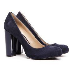 Block heel pumps.