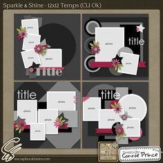 Sparkle & Shine - 12x12 Temps (CU Ok) :: Templates :: SCRAPBOOK-BYTES