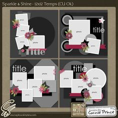 Sparkle & Shine - 12x12 Temps (CU Ok) :: Templates :: SCRAPBOOK-BYTES