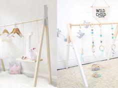 wieszak garderoba DIY, dekoracje do pokoju dziecięcego, pokój dziecięcy DIY zrób to sam