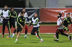 Sergio Ramos, entrenándose con la selección en Las Rozas en 2014 #seleccionespanola #LaRoja #diariodelaroja