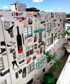 graffiti wall by ESPO in Miami, 5/15 (LP)