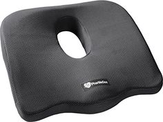 PharMeDoc Orthopedic Coccyx Seat Cushion  Foam Tailbone Pillow Relieves Sciatica Back and Tailbone Pain  Use in A Car Seat Office Chair and at Home -- Continue to the product at the image link.