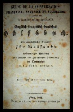 El Viejo Libro, Libreria Anticuaria, Edward Contreras Vergara, www.elviejolibro.tk: Guide de la conversation française, anglaise et al...