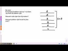 ▶ Pluspunt 3: groep 5 blok 7 les 8 delen met rest - YouTube