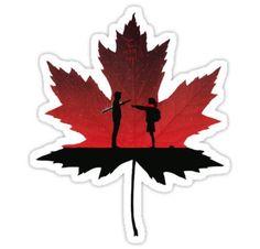 'The Original Goblin Maple Leaf' Sticker by mattskilton Goblin Kdrama Poster, Goblin Kdrama Fanart, Goblin Kdrama Quotes, Boys Over Flowers, Goblin The Lonely And Great God, Goblin Korean Drama, Goblin Art, Pop Stickers, Korean Art