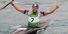 Great Britain's Joe Clarke has won a gold medal in the men's K1 at the Rio 2016…