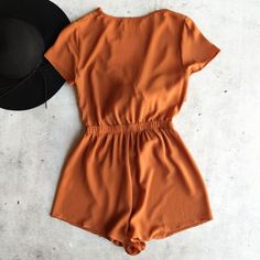 Reverse - selena romper - rust in 2019 Rompers Dressy, Jumpsuit Dressy, Girls Rompers, Rompers Women, Jumpsuits For Women, Rompers For Teens, Girls Fashion Clothes, Teen Fashion Outfits, Mode Outfits