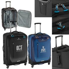 Lightweight, all-wheel bag features ultra-durable, multi-directional treaded wheels that roll over nearly any terrain. Eagle Creek, Travel Bag, Brand Names, Wheels, Marketing, Bags, Handbags, Bag, Totes