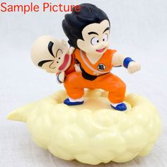 RARE!!! Dragon Ball Goku+Kuririn Moving Kintoun Figure Bakusou JAPAN ANIME JUMP