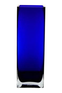 cobalt blue block vase                                                                                                                                                     More