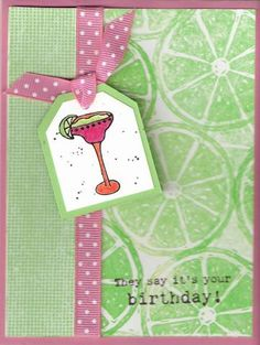 Marguaritaville by laynie_cat - Cards and Paper Crafts at Splitcoaststampers Lemon Slice, Cat Cards, In Loving Memory, Stamping, Birthday Cards, Birthdays, Paper Crafts, Crafty, Tags