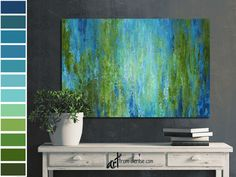 Blue and green abstract canvas wall art - Dining room wall decor, Above bed art, Laundry room pictures, Bathroom artwork #DiningRoomWall #DecorOverBedCouch #CanvasWallArt #BlueAndGreen #ArtOverBedPicture #SageGreenOlive #WallDecorArtWork #OversizedAbstract #AbstractCanvas #LaundryRoomDecor Decor Over Bed, Art Over Bed, Abstract Canvas Wall Art, Wall Canvas, Laundry Room Pictures, Bathroom Artwork, Blue And Green, Olive Green, Dining Room Wall Decor
