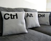 "Futon pillows ""Gamer code"""