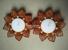 Quilled Candle Holders from Sanskruti Art & Crafts...