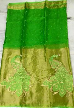 Pure Organza Sarees with Embroidery Work | Buy Online Organza Sarees | Elegant Fashion Wear