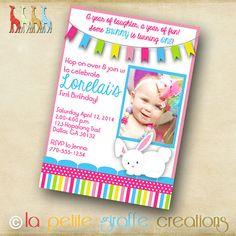 Photo Birthday Invitation  Some Bunny is by LaPetiteGiraffe, $13.00
