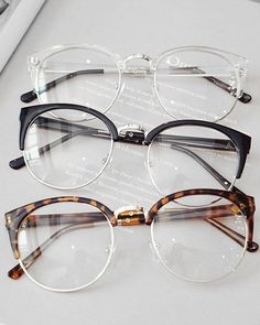 Round Frame Clear Glasses